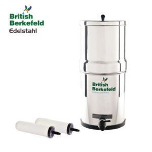 British Berkefeld Outdoor Wasserfilter aus Edelstahl